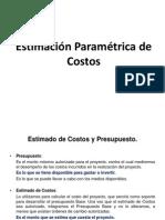 4. Estimación Paramétrica de Costos