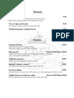 MCG Dinner Menu Feb 2014