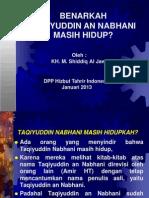 Taqiyuddin Nabhani Masih Hidupkah