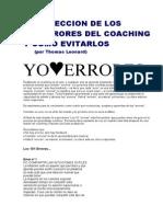 998 Los 101 Errores Mas Tipicos Del Coaching - Thomas Leonard