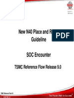 New N40 Place Route Guideline Presentation SOCE