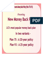 75 93 Money Back Plans