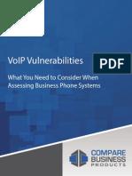 VoIP Vulnerabilities