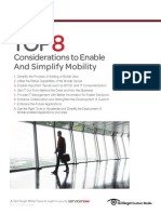 Considerations to Enable And Simplify Mobility
