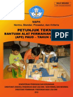 Juknis Bantuan APE PAUD 2013