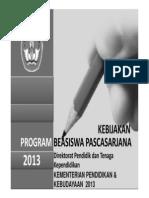 Sosialisasi Beasiswa BPPDN DIKTI 2013(Final) Bw