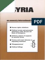 Amnesty Bericht Syrien 1983