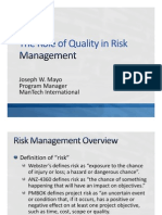 The Role of Quality in Risk Management v4a