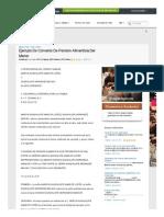 Ejemplo de Convenio de Pension Alimenticia Del Menor - Ensayos - Rubeth
