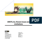 Ansys Known Issues and Limitations