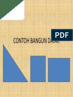 CONTOH BANGUN DATAR
