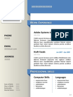 Template CV in PPT format