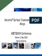 Microarc oxidation - Keronite