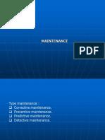 Maintenance System