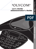 Polycom Soundstation VTX1000 User Guide
