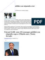 18 Manager Pubblici Con Stipendio Over 300mila