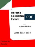 Programa Derecho Eclesiastico Grado 2013 2014