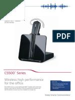 Plantronics CS500 Series Data Sheet PDF