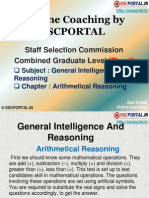 SSC CGL Reasoning Arithmetical Reasoning Chapter -11