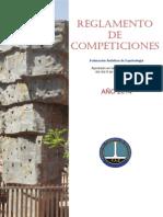 Reglamento Competiciones FAE Aprobado 9-2-2014