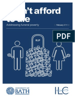 I can't afford to die - Addressing funeral poverty