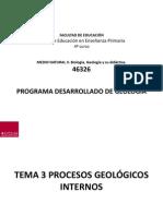 Tema 3 1 Procesos Geologicos Internos