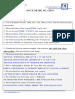 10.1- Oraciones de Relativo - Respuestas