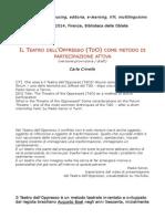 Il Teatro dell'Oppresso (TdO) come metodo di partecipazione attiva