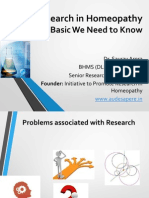 Research in Homeopathy - What Basic We Need to Know