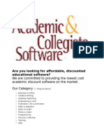 Student Discount Software Academic Collegiate
