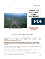 Manual de Geologia Para Ingenieros Bibliografia