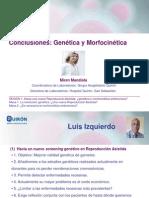 Miren Mandiola - Conclusiones Conclusiones en genética y morfocinética - II Simposio Reproducción Asistida Quirón -