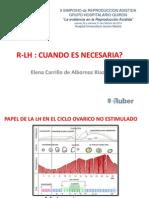 Elena Carrillo de Albornoz - rLH. cuando es necesaria - II Simposio Reproducción Asistida Quirón