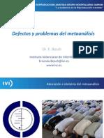 Ernesto Bosch - Defectos y problemas del metaanálisis - II Simposio Reproducción Asistida Quirón