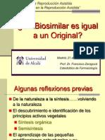 Francisco Zaragoza - Un Biosimilar Es Igual a Un Original - II Simposio Reproducción Asistida Quirón
