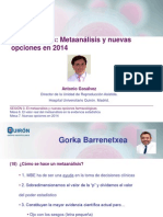 Antonio Gosalvez - Conclusiones. Metaanálisis y nuevas opciones en 2014 - II Simposio Reproducción Asistida Quirón