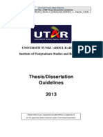 utar thesis guideline