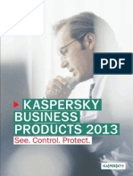 Kaspersky 2013 Business Product Catalogue