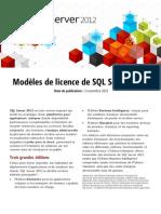 SQL2012 Licensing Datasheet FR