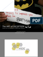 The Art of Deception Training for a New