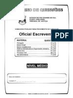 Simulado TJ OficialEscrevente Dez2013