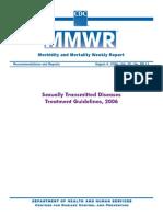 CDC STD Treatment Gudelines 2006