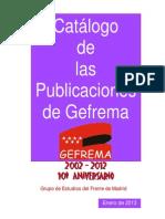 Catalogo Publicaciones Gefrema 2013