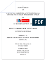 A Study of Attitude of Investors' Towards Mutual Fund as an Investment Tool