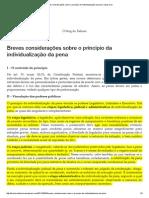Breves considerações sobre o princípio da individualização da pena _ Opus Iuris
