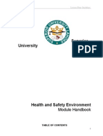 New Module Health and Safety Environment