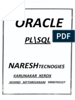 Plsql Naresh Technologies Manual Notes