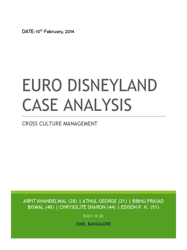 euro disneyland case study hofstede