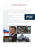 Ukraine Unrest Russian Fighter Jets on 'Combat Alert'