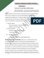 Hospital Pharmacy Lab Manual